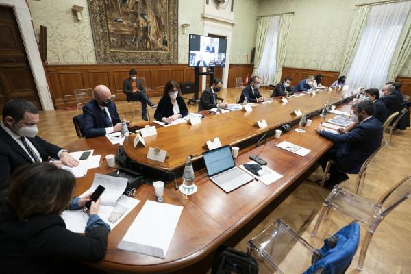 Recovery Fund, il Presidente Giuseppe Conte incontra a Palazzo Chigi il Movimento 5 Stelle