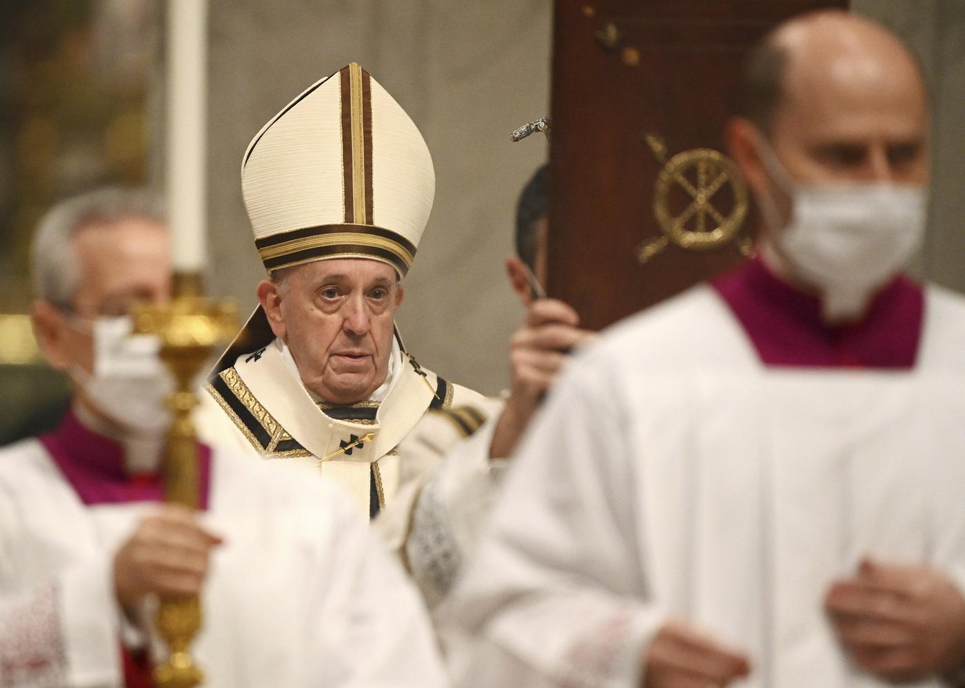 Messa di Natale di Papa Francesco nella Basilica di San Pietro in Vaticano