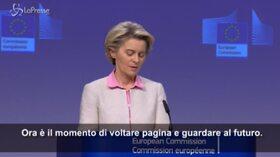 """Accordo su Brexit, Von der Leyen: """"Gb ora Paese terzo ma resta partner dell'Europa"""""""