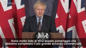 """Accordo su Brexit, Boris Johnson: """"Riprendiamo il controllo delle nostre leggi e del nostro destino"""""""