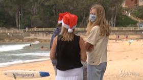 Sydney, Natale in spiaggia nonostante il Covid
