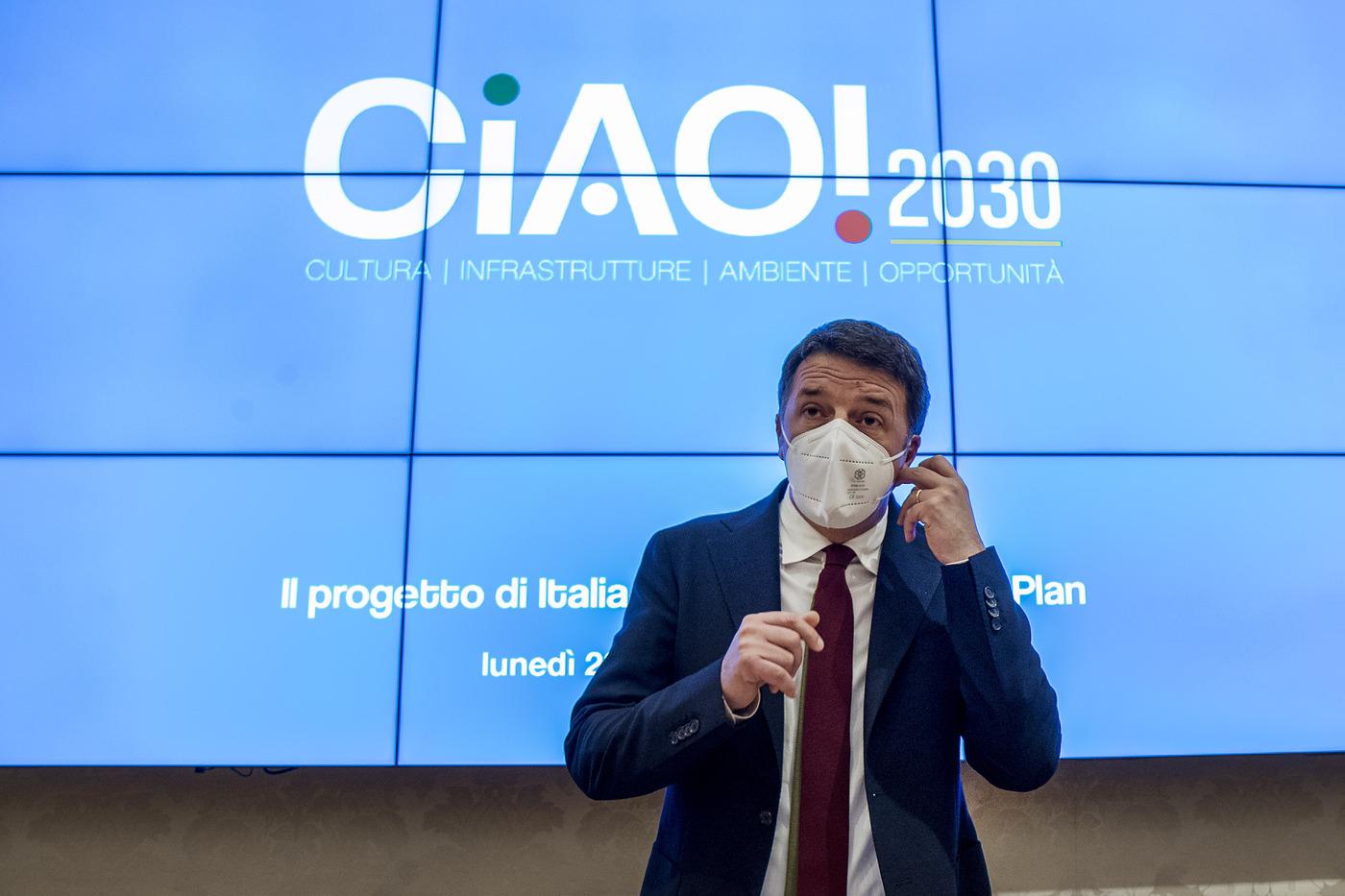 Matteo Renzi presenta il progetto di Italia Viva per il Recovery Plan
