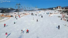 Ucraina, a Bukovel si scia anche durante la pandemia del Covid-19