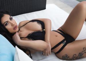 La modella Erika Gray