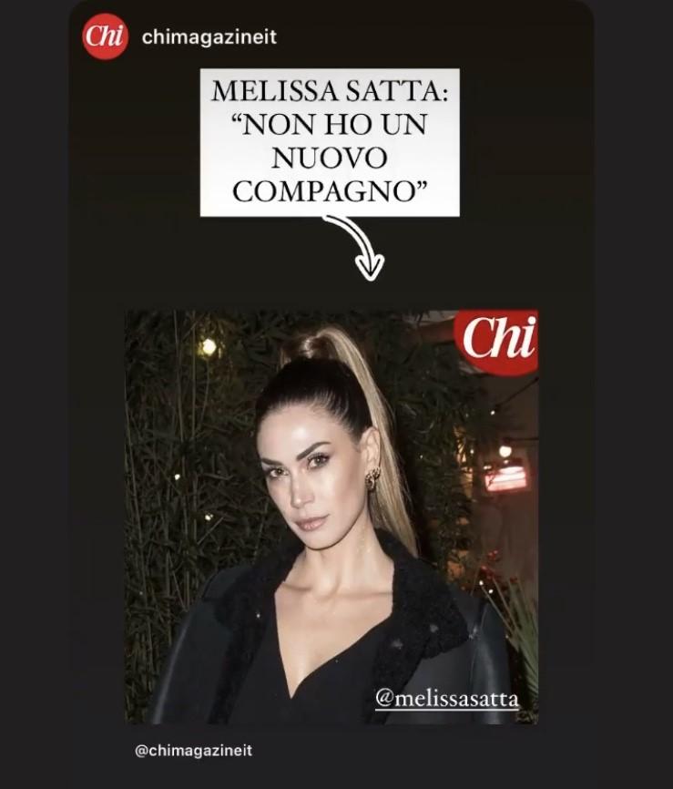 Melissa Satta. Nessun flirt con Rivetti