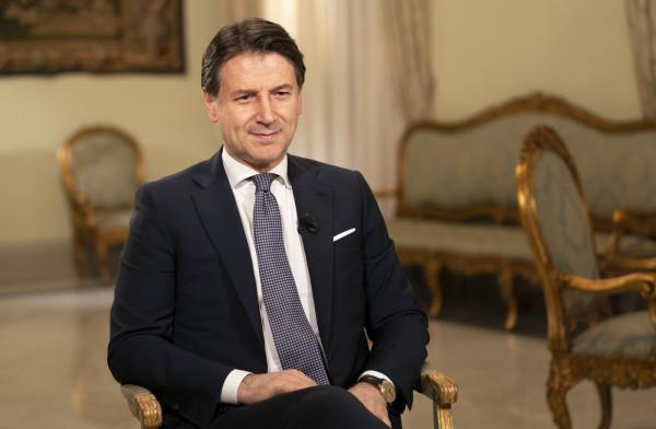 Palazzo Chigi - intervista al Presidente del Consiglio Giuseppe Conte