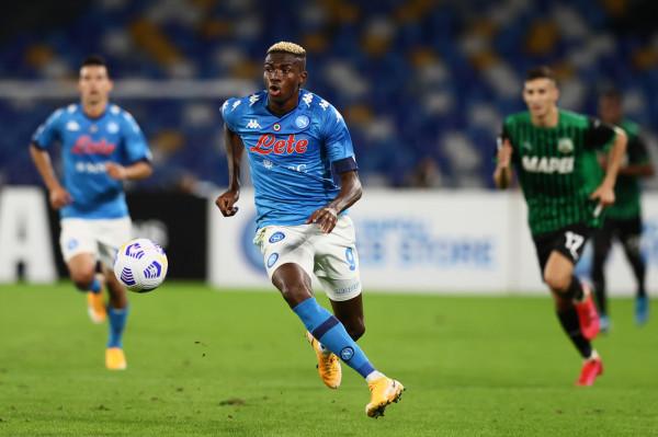 Osimhen, Napoli vs Sassuolo - Serie A TIM 2020/2021