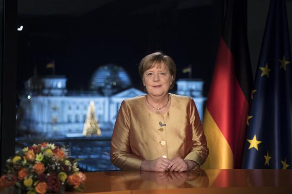Angela Merkel al discorso di fine anno