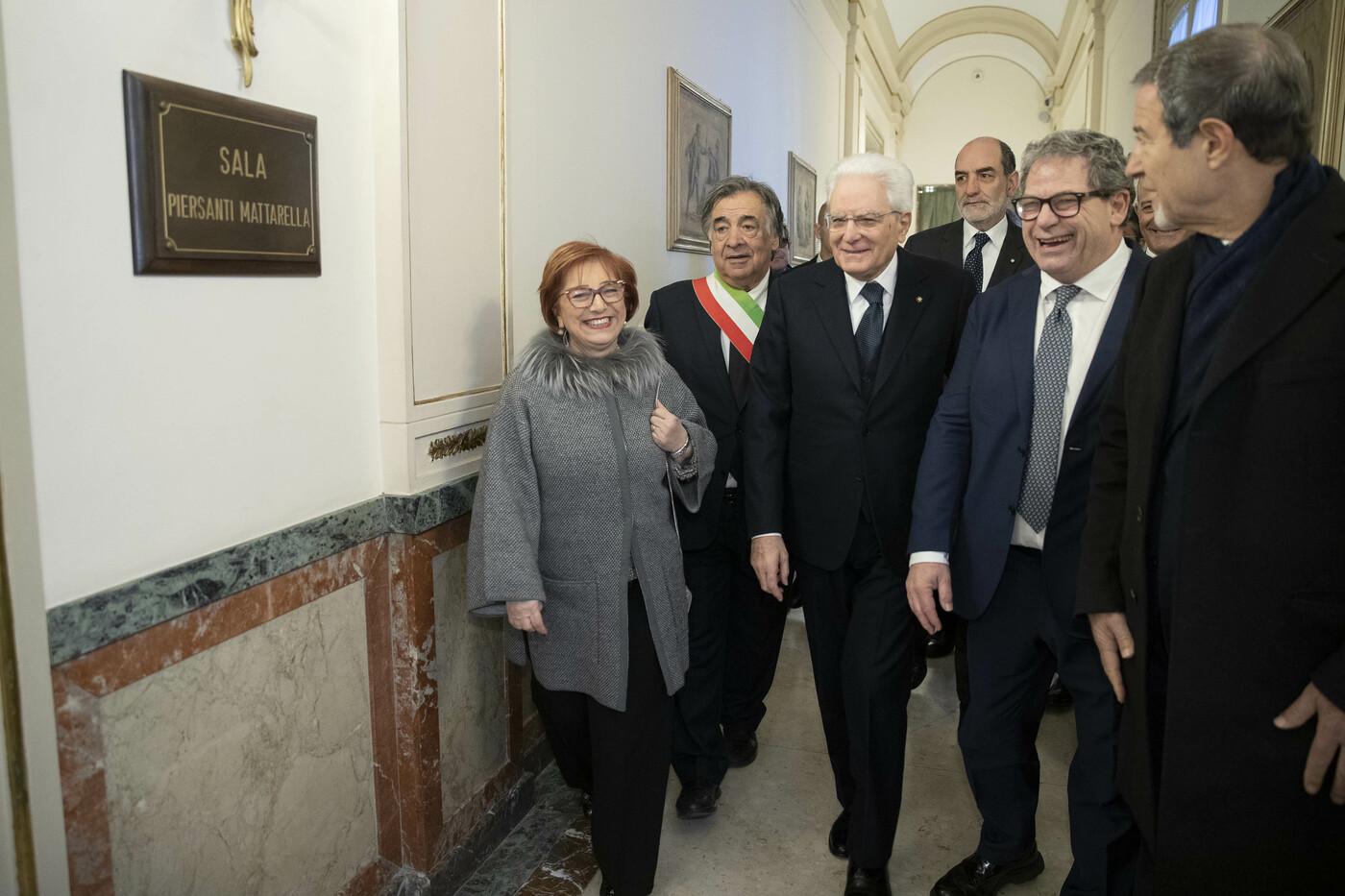 Sergio Mattarella a Palermo per l'anniversario della scomparsa dell' On. Piersanti Mattarella