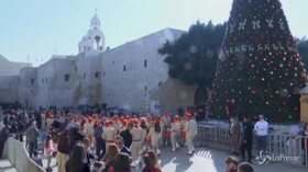 A Betlemme la vigilia del Natale Ortodosso