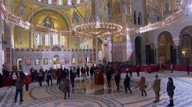 Belgrado, i serbi celebrano il Natale ortodosso