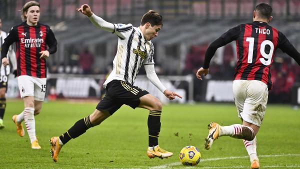 Serie A, super Chiesa nel gelo di San Siro: Juve schianta Milan e riapre corsa Scudetto