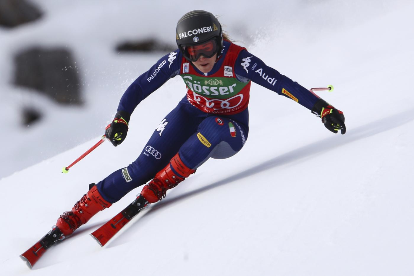 Sci alpino, allenamento discesa libera di Coppa del Mondo femminile a Sankt Anton in Austria