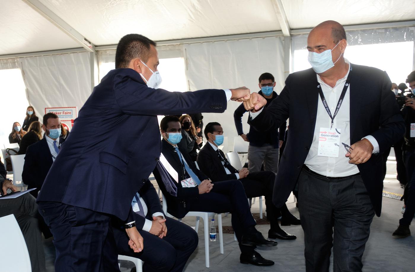 Il Ministro degli esteri Luigi Di Maio con il Presidente della Regione Lazio Nicola Zingaretti