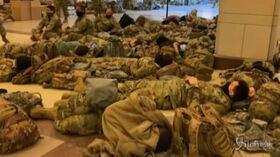 Usa, la Guardia Nazionale accampata nel Campidoglio per proteggere il Congresso | VIDEO