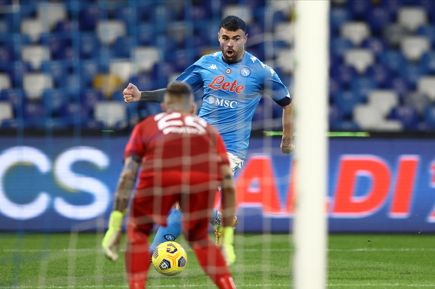 Andrea Petagna, Napoli vs Empoli - Coppa Italia 2020/2021