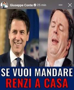"""Governo, storia Fb di Conte: """"Se vuoi mandare a casa Renzi iscriviti a un gruppo"""""""