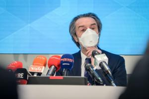 Milano, conferenza stampa rimpasto Giunta della Regione Lombardia: presentazione nuovi assessori