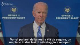 """Biden annuncia l'American Recovery Plan: """"Affronterò pandemia e darò assistenza economica"""""""