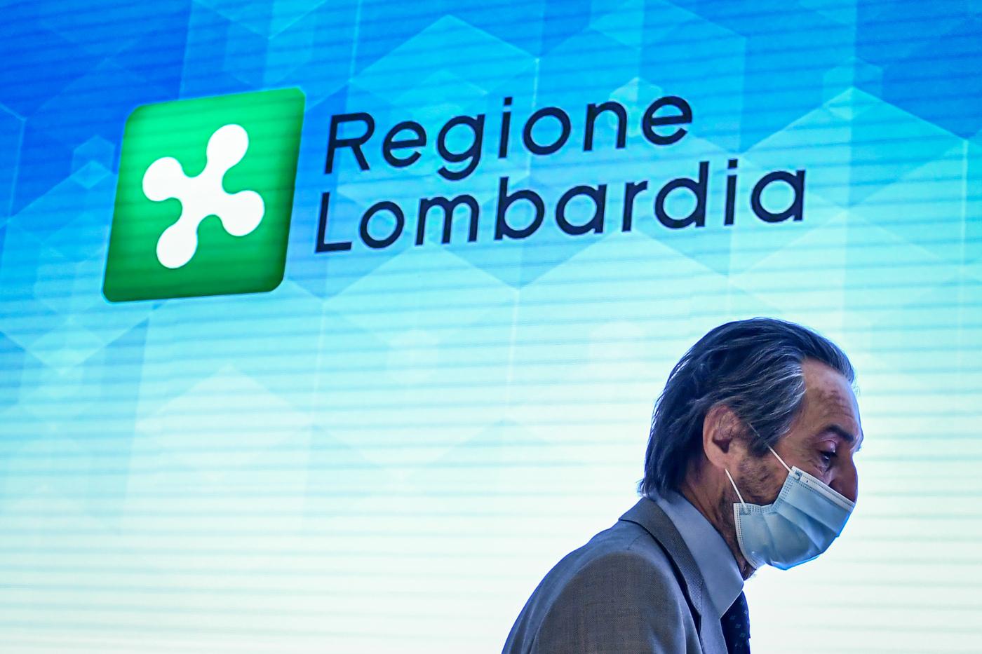 Conferenza del Presidente Regione Lombardia Attilio Fontana su rimpasto giunta regionale