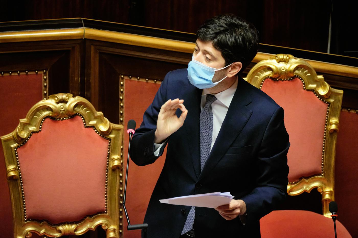 Senato - Informativa del Ministro Roberto Speranza sulle misure di contenimentoper evitare la diffusione del COVID-19