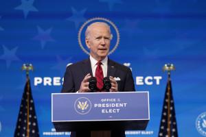 Usa, il presidente eletto Joe Biden in conferenza stampa al teatro The Queen a Wilmington