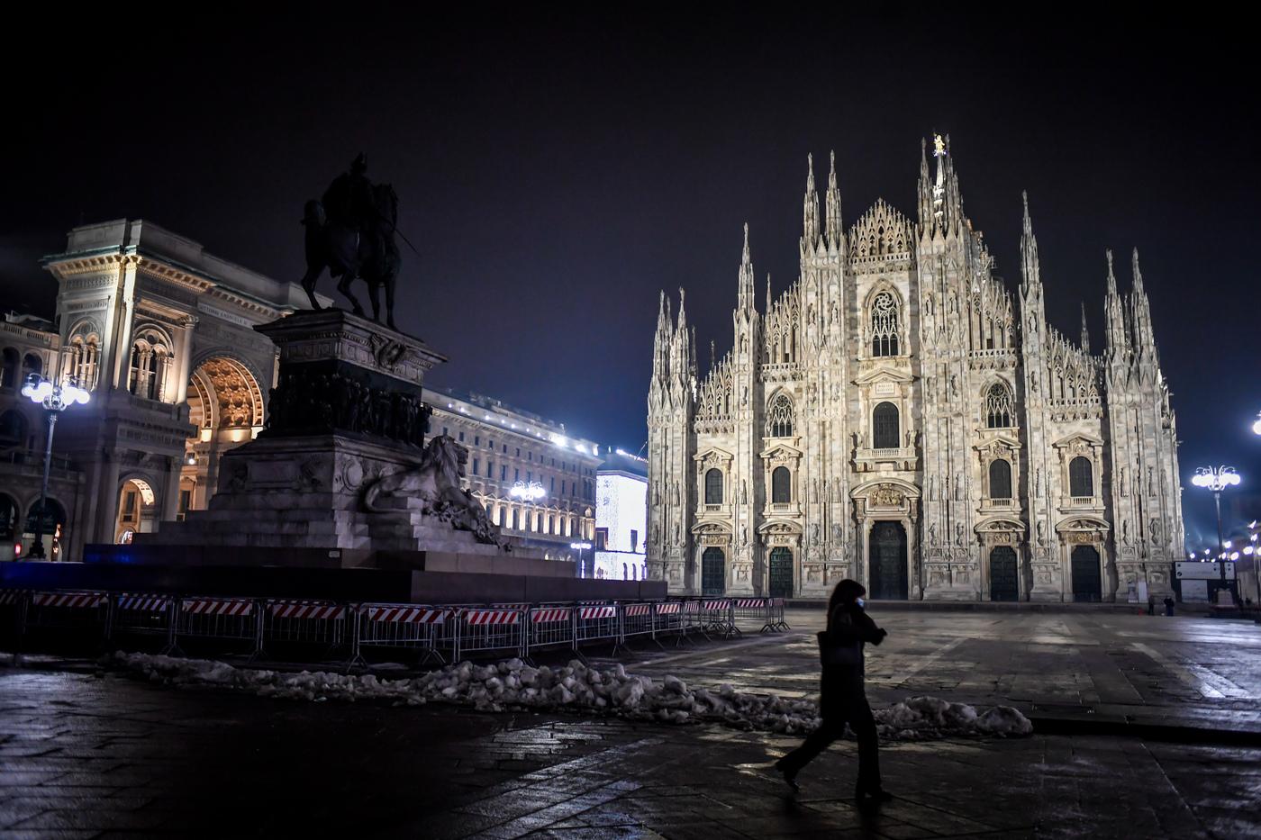 Milano in lockdown per il Capodanno 2021