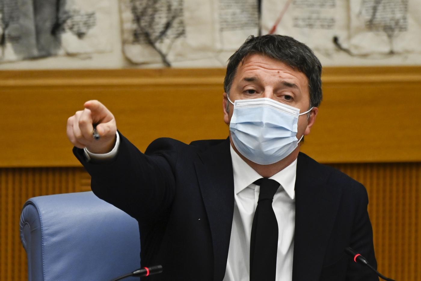 Matteo Renzi, Italia Viva, conferenza stampa alla Camera dei Deputati
