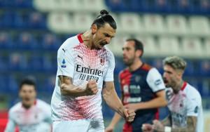 Esultanza dopo il gol Zlatan Ibrahimovic