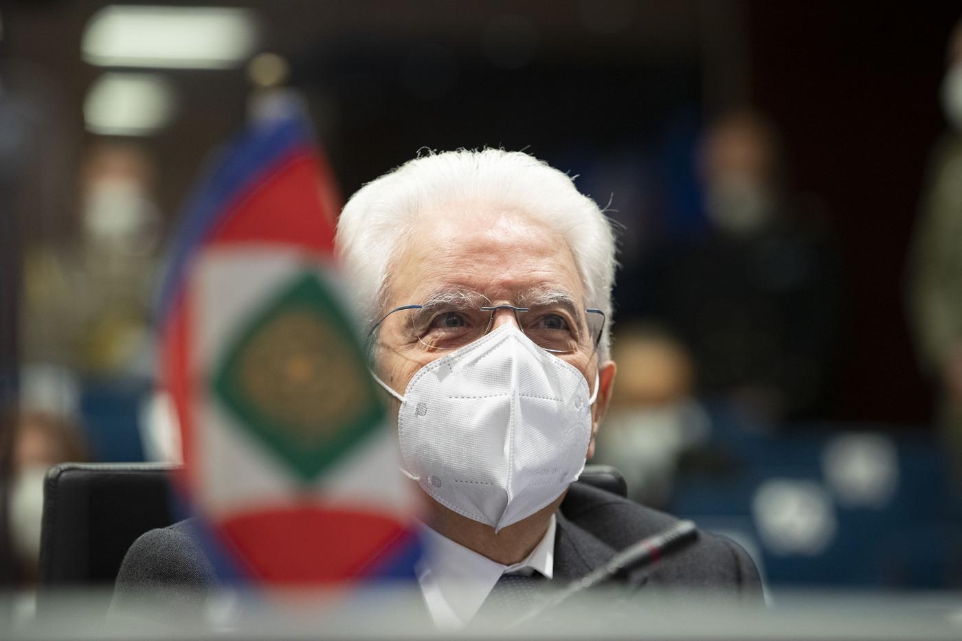 Il Presidente Sergio Mattarella alla sede del Comando Operativo di vertice Interforze