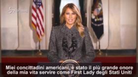 """Usa, Melania Trump: """"Essere la First Lady è stato il più grande onore della mia vita"""""""