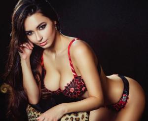 La modella russa Helga Lovelaky