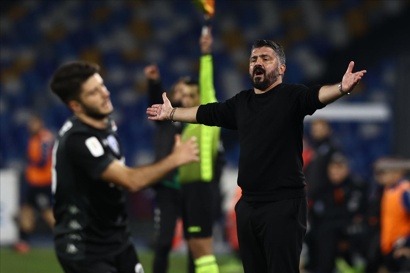 Gennaro Gattuso allenatore Napoli. Napoli vs Empoli - Coppa Italia 2020/2021