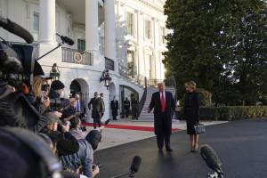 USA 2020, Trump e Melania lasciano la Casa Bianca e saltano l'inaugurazione di Biden