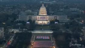 Usa: il risveglio di Capitol Hill nel giorno dell'Inaguration Day, il time lapse
