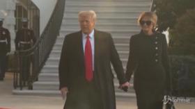 Inauguration Day, Donald Trump e Melania lasciano Casa Bianca