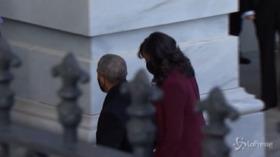 Inauguration Day: Clinton, Bush e Obama arrivano al Campidoglio per il giuramento di Biden