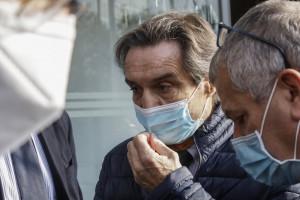 Milano, conferenza stampa di Attilio Fontana sull'emergenza coronavirus