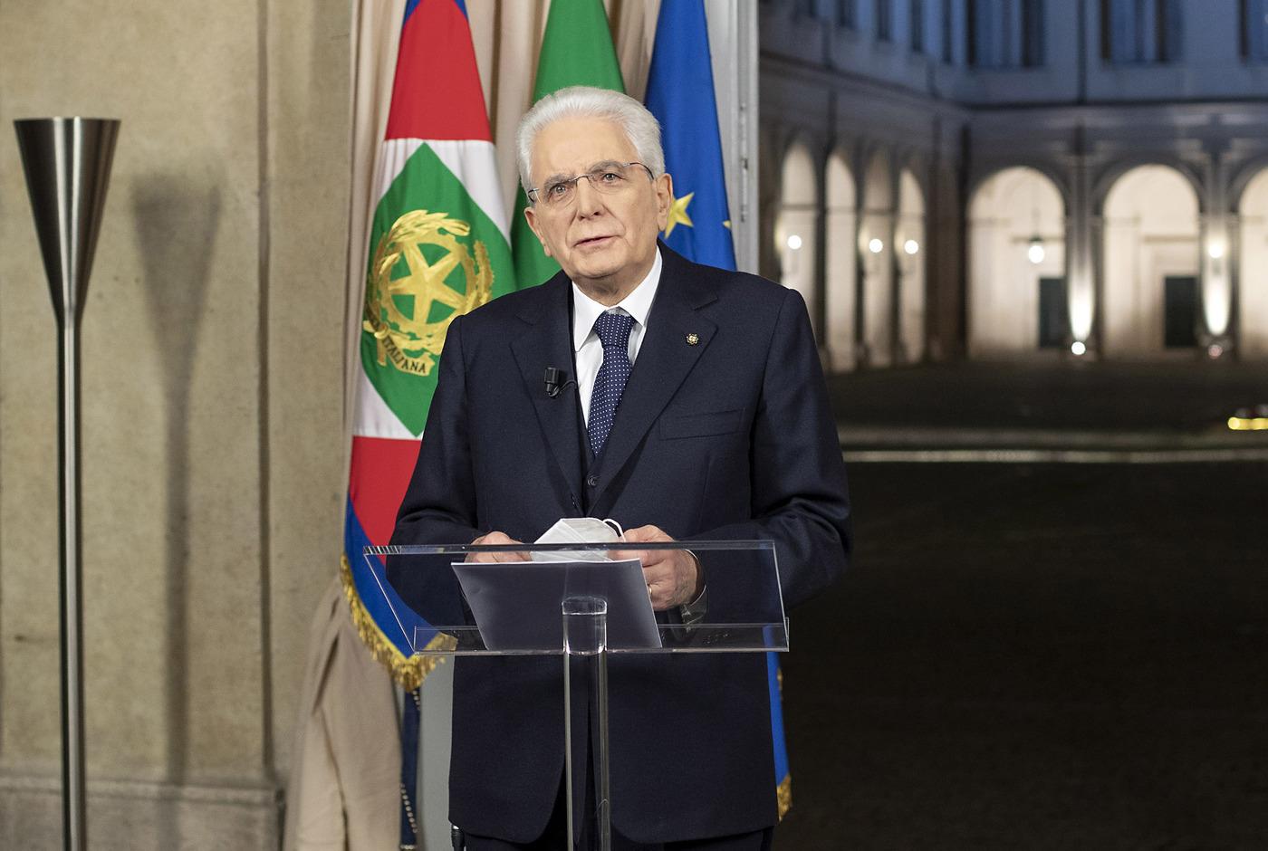 Il discorso di fine anno del Presidente della Repubblica Sergio Mattarella
