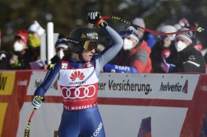 Coppa del Mondo di sci alpino, discesa libera femminile a Crans Montana in Svizzera