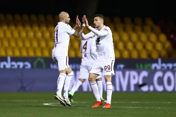 Simone Zaza Torino esultanza. Benevento vs Torino - Serie A TIM 2020/2021