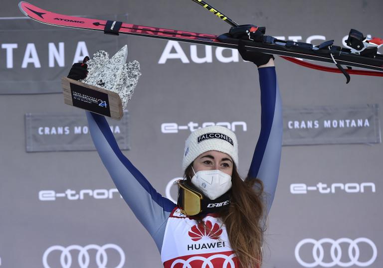 Sofia Goggia ha vinto la discesa libera di Crans Montana
