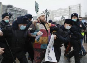 Russia, manifestazione pro Alexei Navalny a Mosca