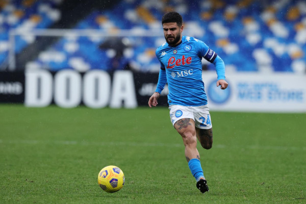 Lorenzo Insigne. Napoli vs Fiorentina - Serie A TIM 2020/2021