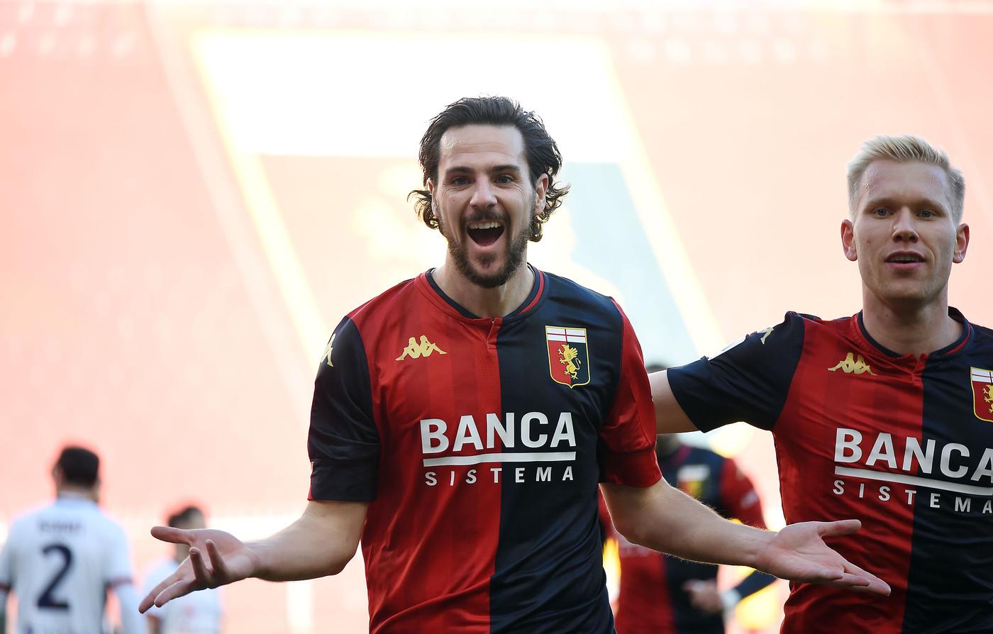 Mattia Destro. Genoa vs Cagliari - Serie A TIM 2020/2021