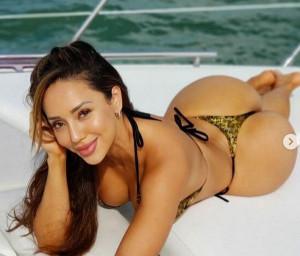 La modella Melissa Alvarez