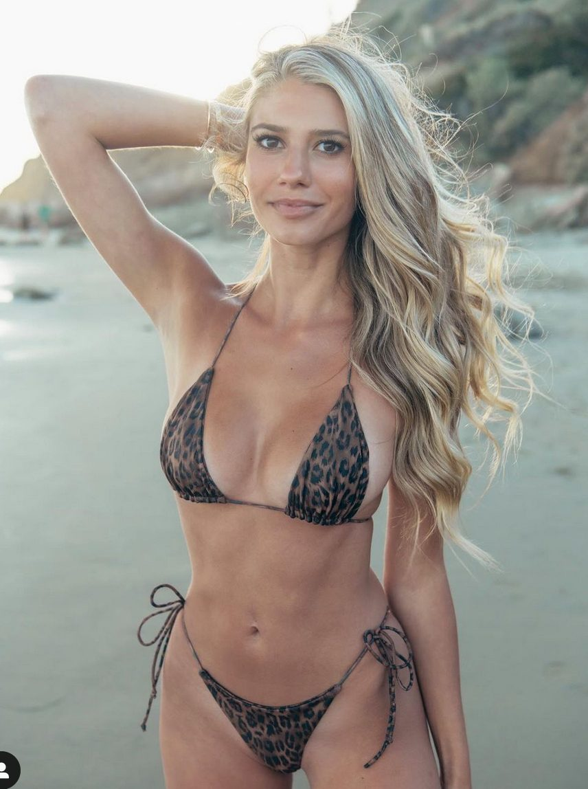 Emily Tanner bikini leopardato