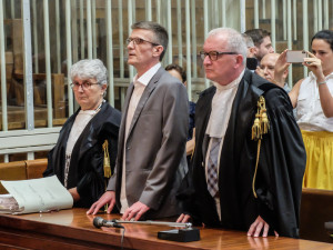 Milano, lettura della sentenza del processo in appello a Stefano Binda per l'omicidio di Laura Macchi