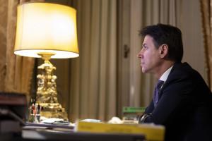 Il Presidente del Consiglio Giuseppe Conte a Palazzo Chigi
