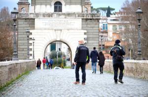 Maltempo a Roma, piena del fiume Tevere